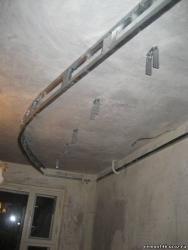 Двухуровневый потолок из гипсокартона своими руками с подсветкой чертеж фото 410