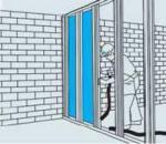 Монтаж гипсокартона (стены)