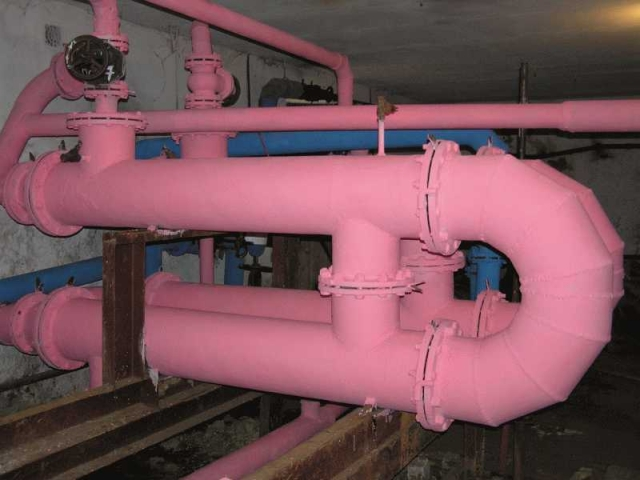 Демонтаж теплоизоляции теплообменников теплообменника для нагрева приточного воздуха