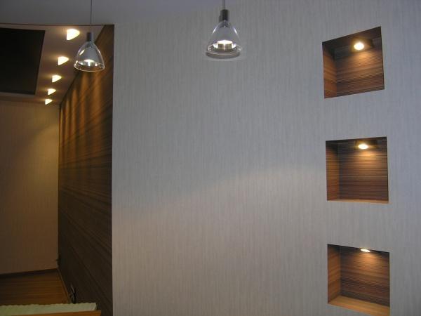 Ниша на стене из гипсокартона с подсветкой своими руками